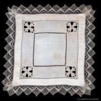 fazzoletto 25 - inserti punto tenerife- la camelia collezioni
