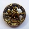 """bottone oro cavallo-""""La Camelia Collezioni"""""""