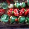 """bottoni colorati verdi misti-""""La Camelia Collezioni"""""""