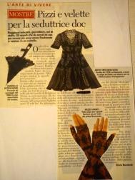 """Articolo su """"Panorama"""" anno 1996 - La malizia sotto la veletta"""