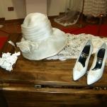 cappello da cerimonia e scarpa sposa anni 50 - andiamo a nozze