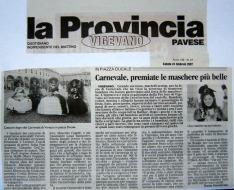 articolo provincia pavese - maschere