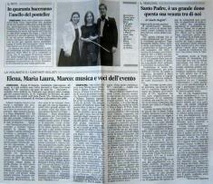 articolo provincia pavese - visita benedetto XVI