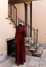 vestito da cerimonia bordeaux