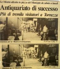 Chivasso 1989 - articolo mostra antiquariato