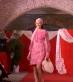 vestito da cocktail rosa fantasia anni 60