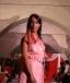 vestito da cocktail arancio rosa anni 60