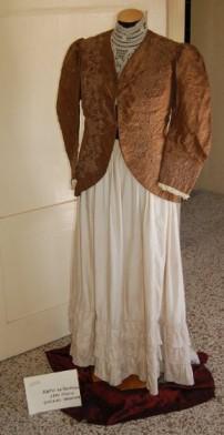 vestito da giorno giacchina in taffettas fine 1800
