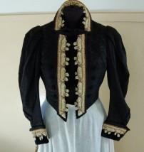 giacca domenicale da rappresentanza in panno ricamato fine 1800