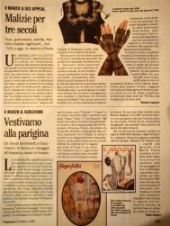 """Articolo su l""""espresso"""" anno 1996"""