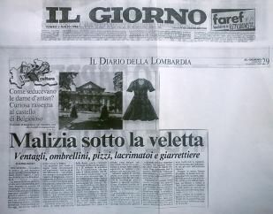 Il Giorno anno 1996 - la malizia sotto la veletta