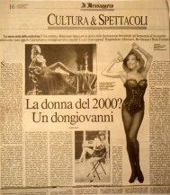 """Articolo su """"il messaggero"""" anno1996-la malizia sotto la veletta"""
