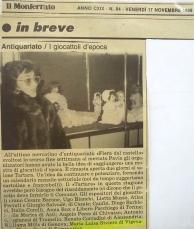il Monferrato 1989 - articolo mostra giocattolo