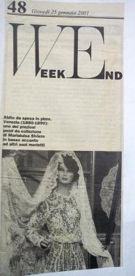 informatore anno 2001 - vestito da sposa