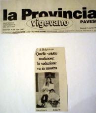 """Articolo su""""la provincia pavese"""" anno 1996-la malizia sotto la veletta"""