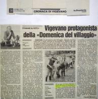 La Provincia Pavese 1999 - articolo la domenica del villaggio