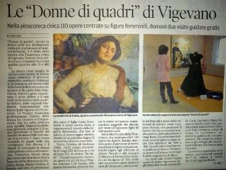 La Provincia Pavese 7 marzo 2012-donne di quadri