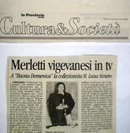 La Provincia Pavese anno 2001-articolo Buona Domenica