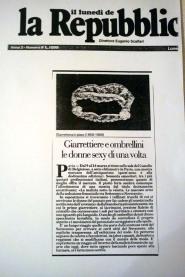 """Articolo su""""la repubblica"""" anno 1996-la malizia sotto la veletta"""