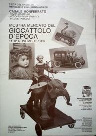 Locandina Casale Monferrato 1989 - mostra del giocattolo