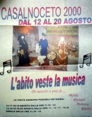 Locandina CastelNoceto 2000 - l'abito veste la musica 1