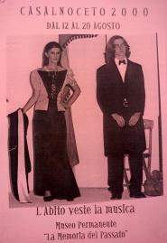Locandina CastelNoceto 2000 - l'abito veste la musica