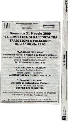 lomellina e folklore 2009