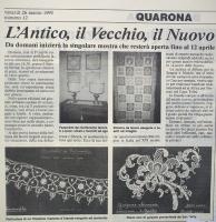 Quarona 1993 - articolo pizzi