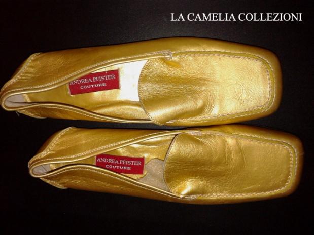 scarpa da uomo oro-mocassino uomo colore oro - scarpa gold - la camelia collezioni