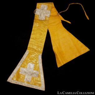 stola- liturgica -giallo ocra - la camelia collezioni