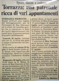 Torrazza Piemonte 1989 - mostra antiquariato