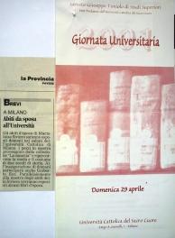 Università Sacro Cuore di Milano anno 2001 - vestiti da sposa