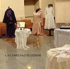 vestiti da sposa allestimento con table habillè - la camelia collezioni