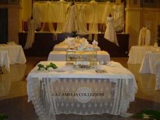 vestiti da sposa - tovaglie da sposa - allestimento - la camelia collezioni