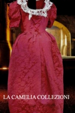 vestiti rinascimentali - vestiti stile 700 - vestiti in tessuto broccato - bordeaux - la camelia collezioni