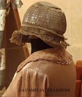vestito da sposa d'epoca colore cipria scuro - la camelia collezioni