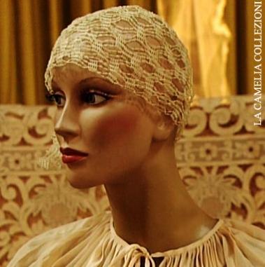 acconciatura sposa a cuffia stile charleston - la camelia collezioni