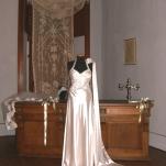 Vestito da cerimonia bianco con drappeggio top