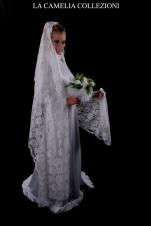 veli da sposa-veli pizzo broderie colore bianco -la camelia collezioni