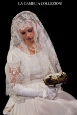 veli da sposa-veli pizzo valencienne colore bianco -la camelia collezioni