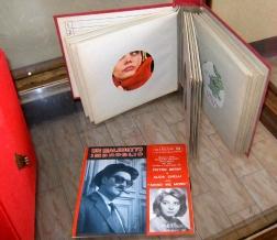 dischi in vinile 45 giri e raccoglitore