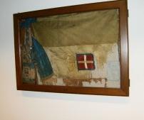 Bandiera restaurata dalla Collezione