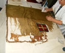 """restauro bandiera risorgimento - """"La Camelia Collezioni"""""""