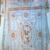 Tendaggio in lino ricamo a imparaticcio mt. 2,10 x 3,05