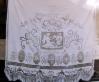 Tendaggio in lino con ricami ad imparaticcio mt. 2,20 x 2,80