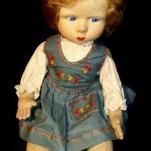 bambola lenci con vestitino azzurrino - la camelia collezioni