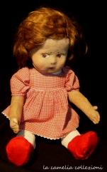 bambola lenci con vestitino rosso - la camelia collezioni