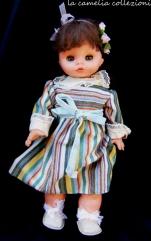 bambola vestito a righe - la camelia collezioni