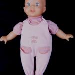 bambolotto con tutina rosa -anni 80- la camelia collezioni