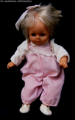 bambolotto tutina rosa e scarpine bianche - anni 80- la camelia collezioni